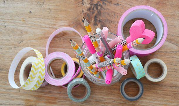 DIY – Washi Tape om potloden!