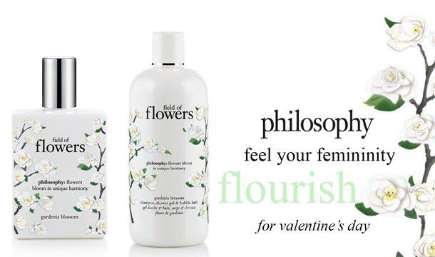 Vier valentijn met philosophy Field of flowers!