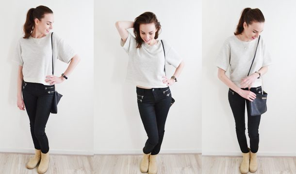 Outfit of the day – Crop & Leather look!
