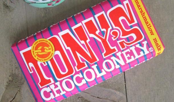 LE Tony's Chocolonely Marshmallow & Pecan!
