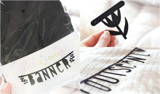 DIY Letter Banner van Loavies ♡