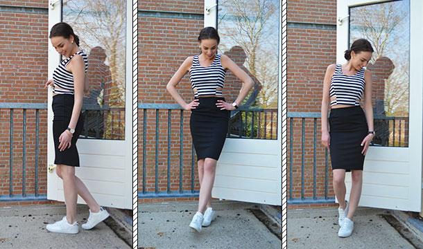 MIX & MATCH || 2-piece set  Black & Stripes