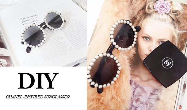 ACTION D.I.Y    Chanel-inspired sunglasses! Decoratie of Festival tip!