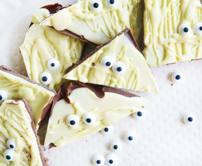 Halloween recept | Mummy Chocolate Bar