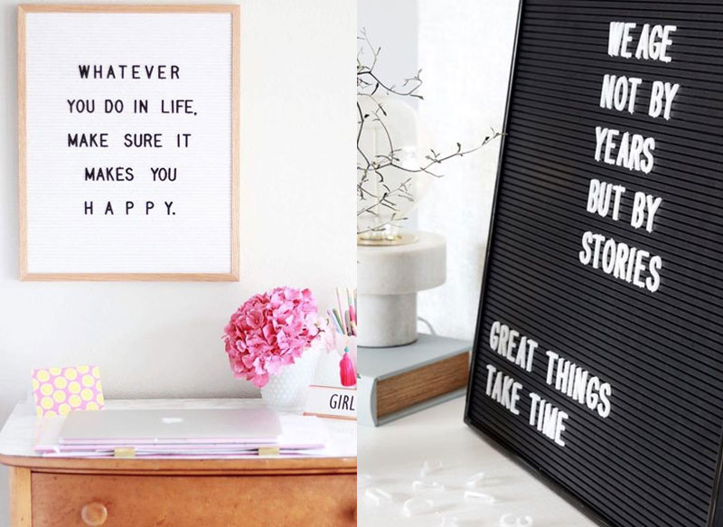 Letterbord Action + leuke quotes!