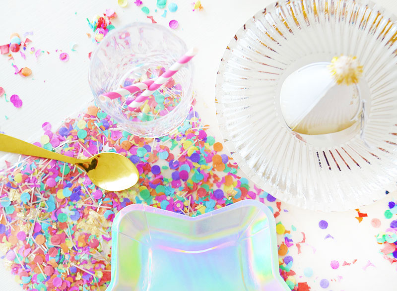 Confetti placemat maken voor feestjes!