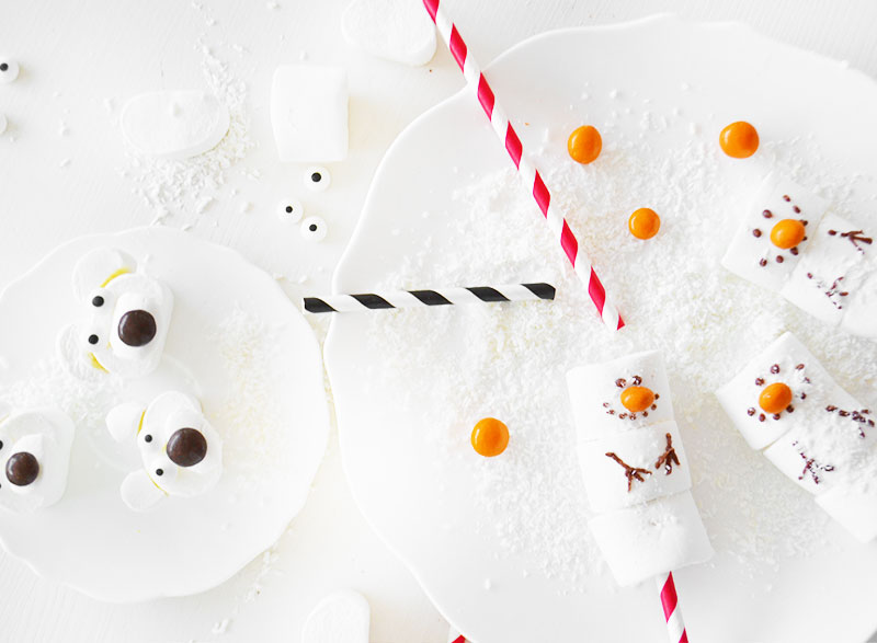 Snowman & Polar Bear marshmallow voor in je warme chocolademelk