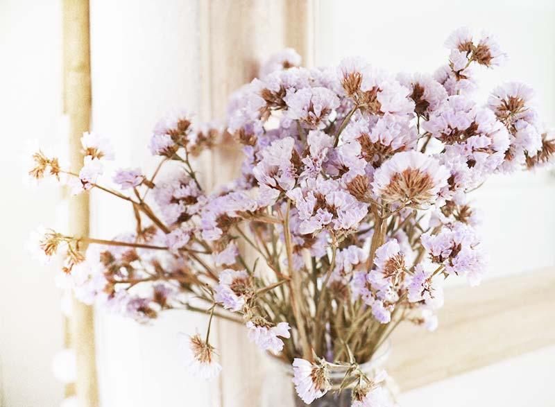 Decoreren met gedroogde bloemen!