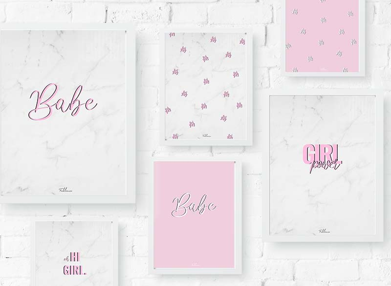 8x Printable Marble/Pink Wall Art!