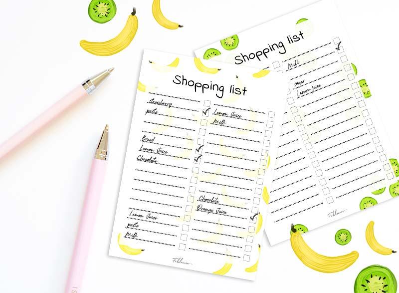 Printable Shopping List!
