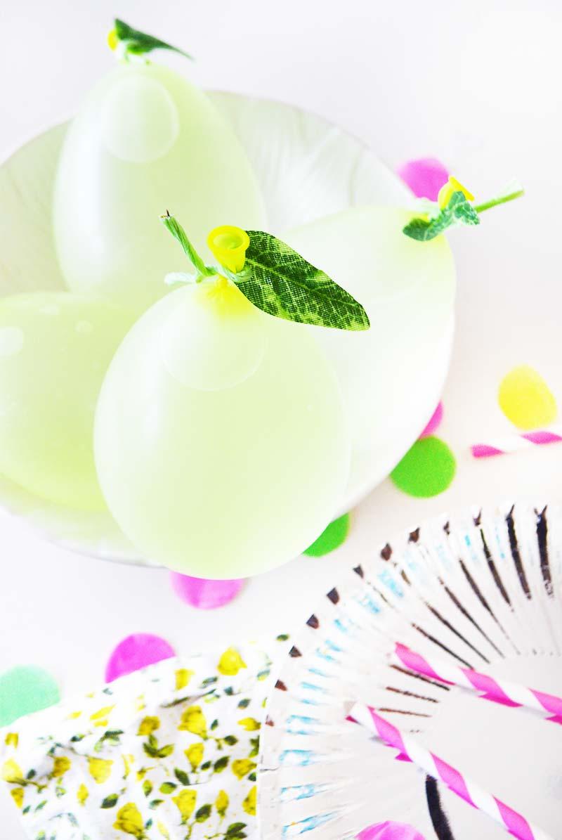 DIY citroen (water) ballon decoratie! (leuk voor kinderfeestjes!