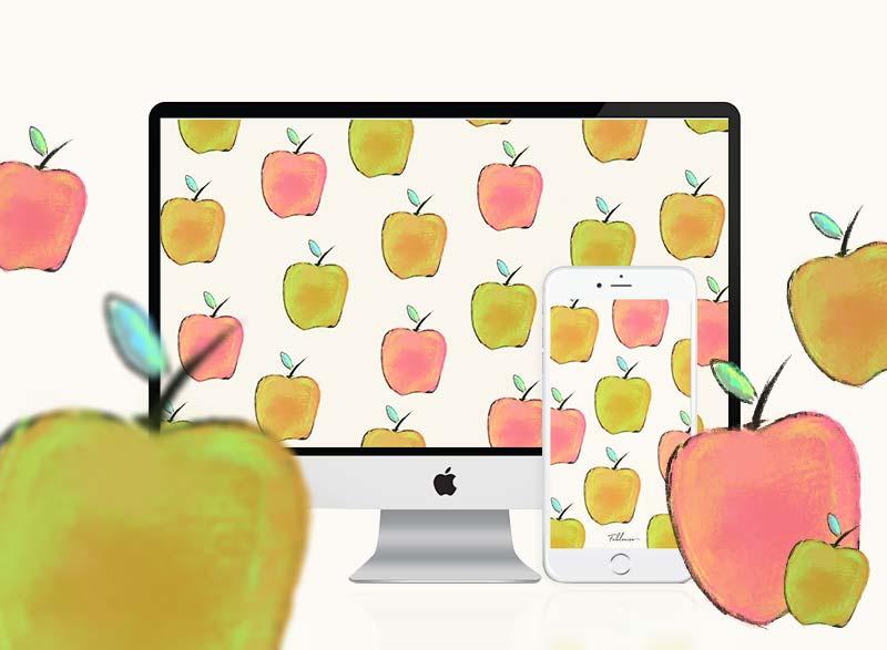 Free Desktop & mobile Wallpaper! Summer Apples!