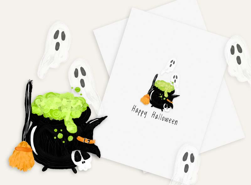 PRINTABLE Halloween Card!
