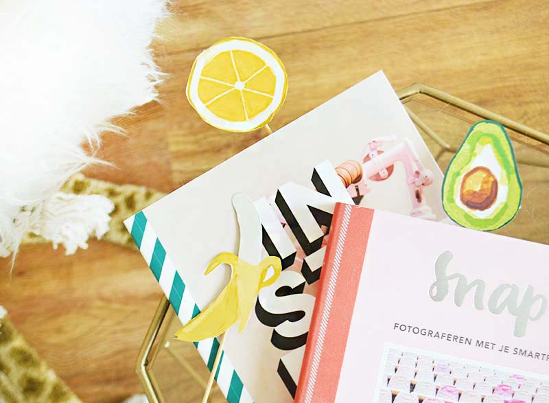 DIY Printable Fruity bookmarks!