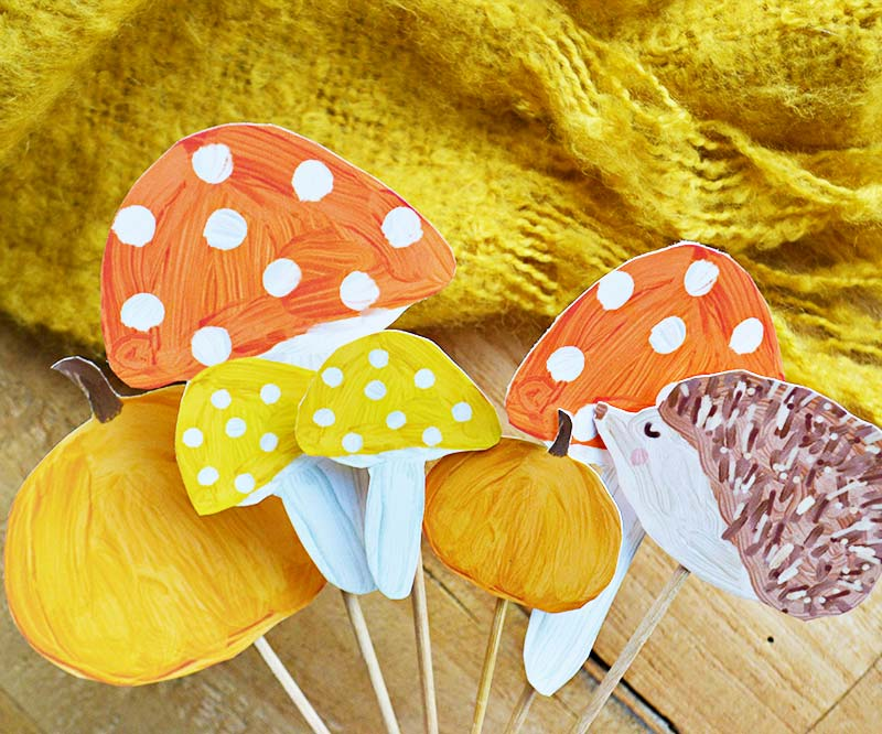 DIY | Autumn Cake Toppers!