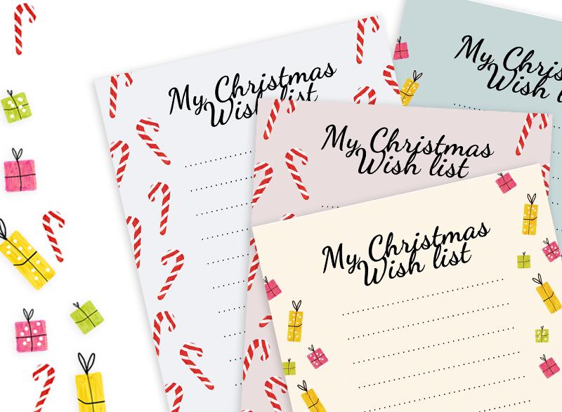 Printable Christmas Wish list!