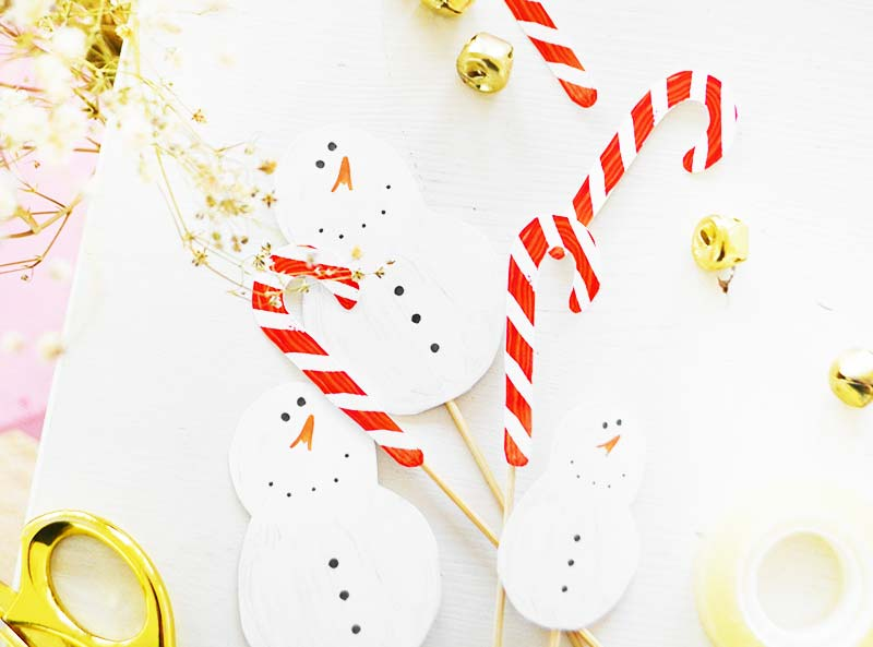 DIY | Candy Cane & Snowman Cake Toppers!