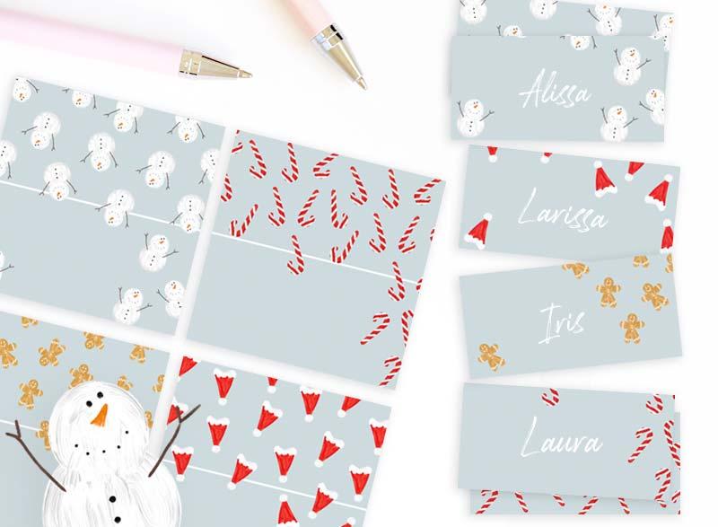 Free Printable Christmas Place Cards!