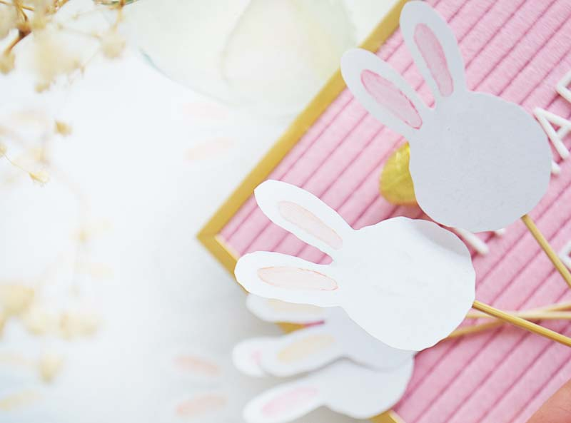 Free Printable Bunny Cake Toppers!
