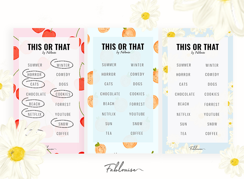 THIS OR THAT | INSTAGRAM STORY TEMPLATES #2