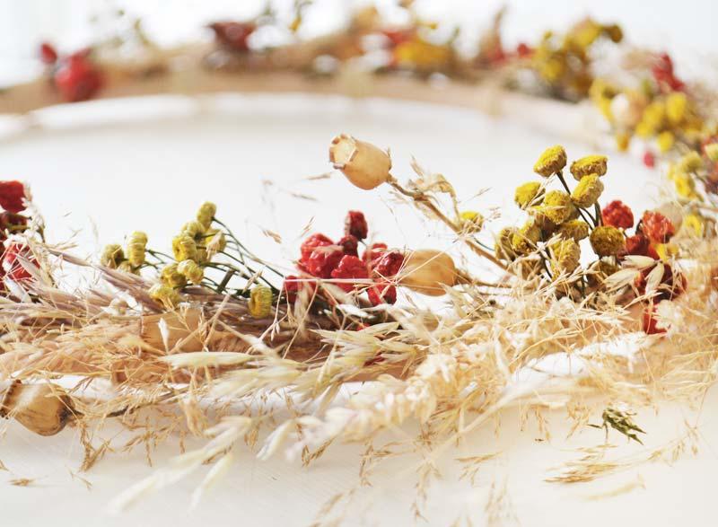 TIP Workshop herfstkrans maken met droogbloemen!